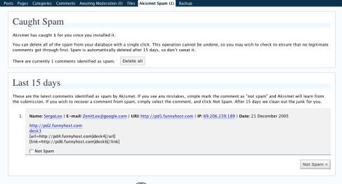 anti spam pour WordPress