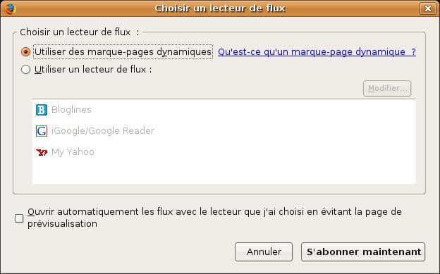 Quel lecteur RSS ?