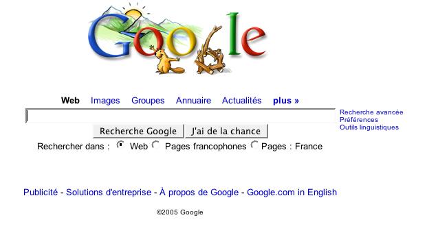 Logo de google pour le jour de l'an 2006