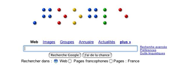 Google en hommage à Louis Braille