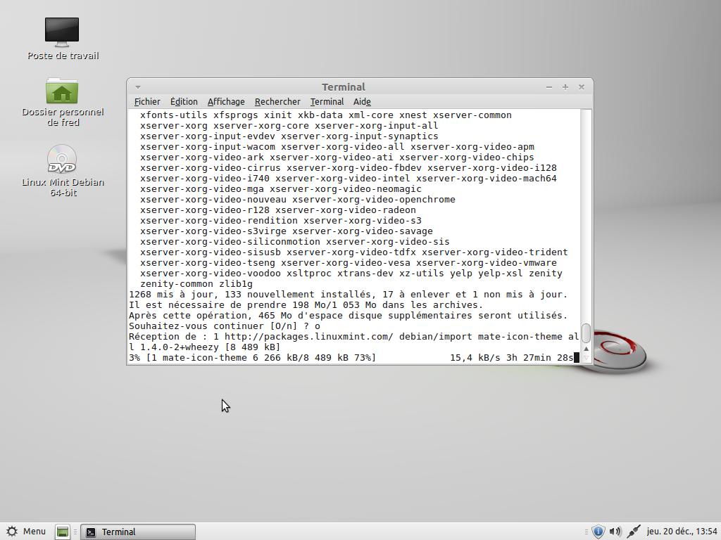 Mise à jour de la Linux Mint Debian Edition