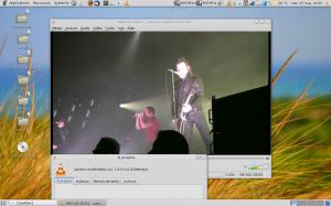 VLC 1.0.0rc2 dans Archlinux lisant un DVD