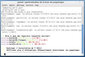 Noyau Linux 2.6.30 dans testing d'Archlinux